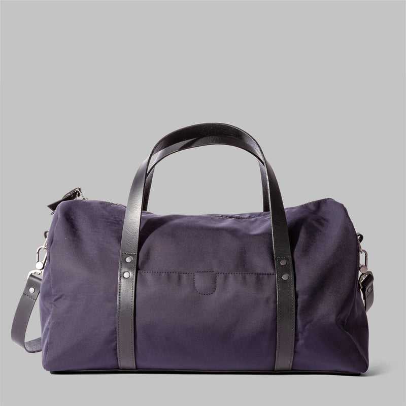 Bexley | Womens Navy Nylon & Leather Weekender | Thorndale
