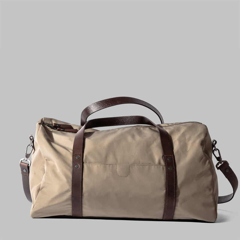 Bexley | Ladies Beige Nylon & Leather Weekender | Thorndale