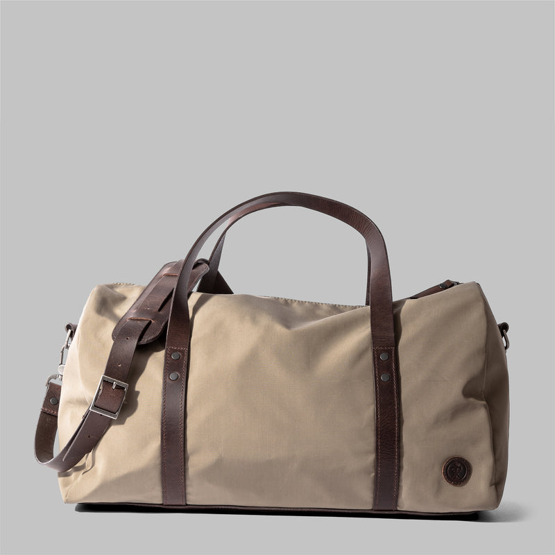 Bexley | Ladies Beige Nylon & Leather Weekender | Thorndale, UK