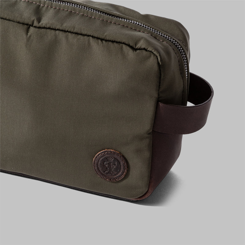 Brindley Olive Green Nylon Wash Bag