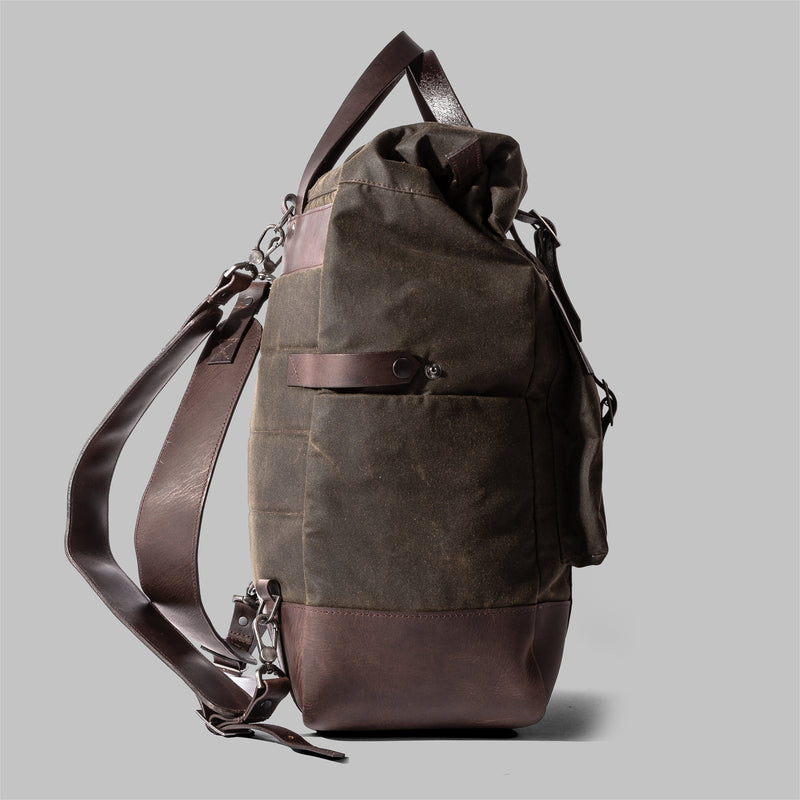Brocton | Mens Waxed Cotton Rucksack | Thorndale, UK