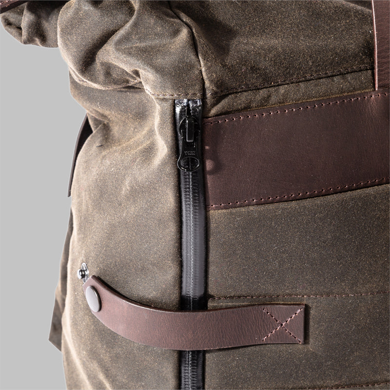 Brocton | Green Waxed Cotton Rucksack | Thorndale, UK