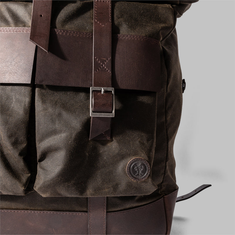 Brocton | Olive Green Waxed Cotton Rucksack | Thorndale, UK
