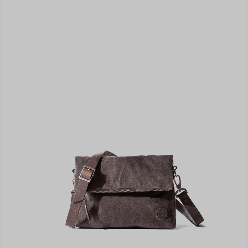 Ellesmere | Ladies Brown Waxed Cotton Cross Body Bag | Thorndale, UK