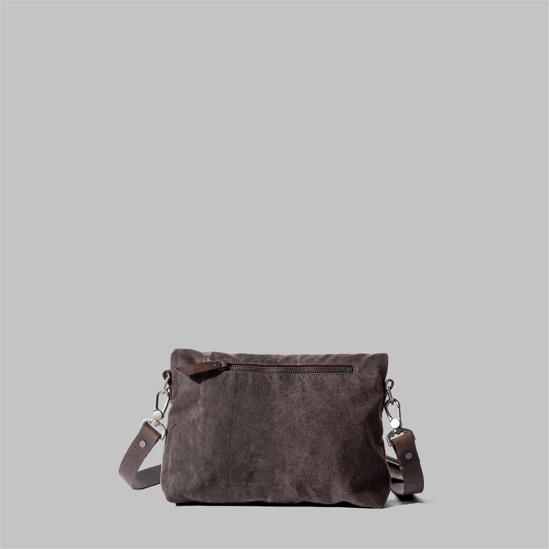 Ellesmere | Ladies Brown Waxed Cotton Cross Body Bag | Thorndale