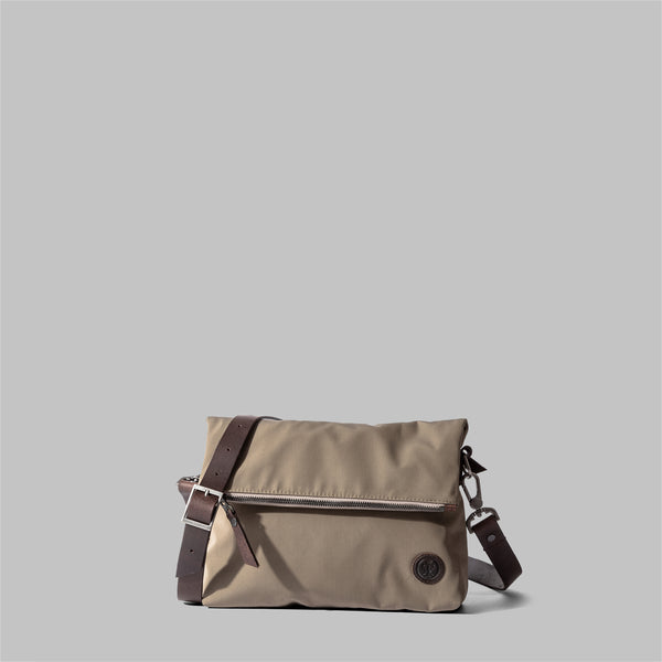 Ellesmere | Ladies Beige Nylon & Leather Cross Body Bag | Thorndale