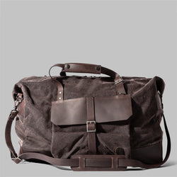 Haughton | Mens Brown Waxed Cotton & Leather Holdall | Thorndale, UK