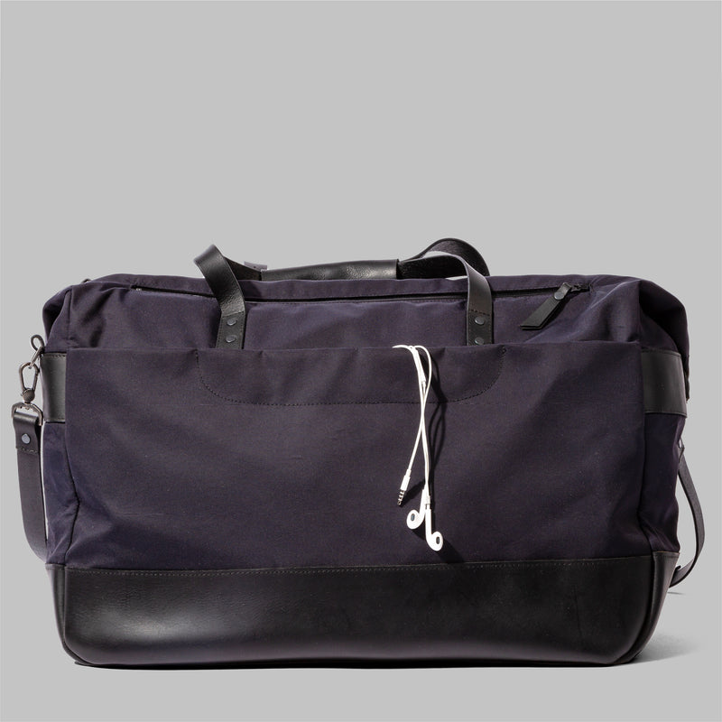 nylon leather holdall