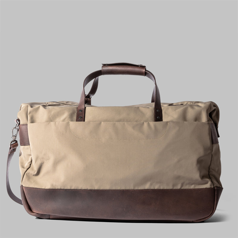 Haughton | Mens Beige Leather Holdall | Thorndale, UK