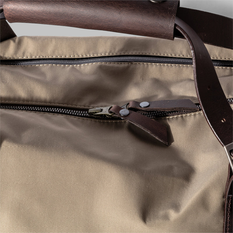 Haughton | Beige Nylon & Leather Holdall | Thorndale, UK