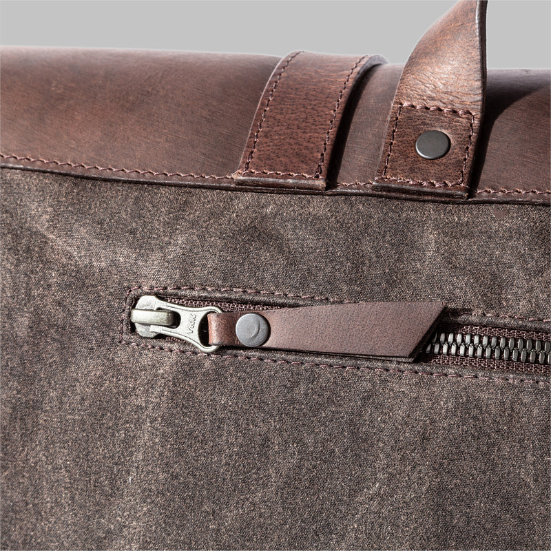 Portland | Mens  Waxed Cotton Messenger Bag | Thorndale
