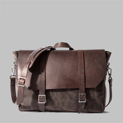 Portland | Mens Brown Waxed Cotton Messenger Bag | Thorndale, UK