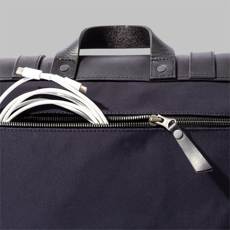 Portland Navy Nylon Messenger Bag