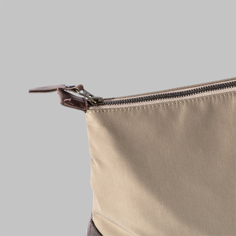 Silverdale | Beige Nylon & Leather Wash Bag | Thorndale, UK