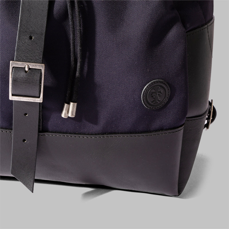 Weston | Womens Navy Nylon & Leather Rucksack | Thorndale