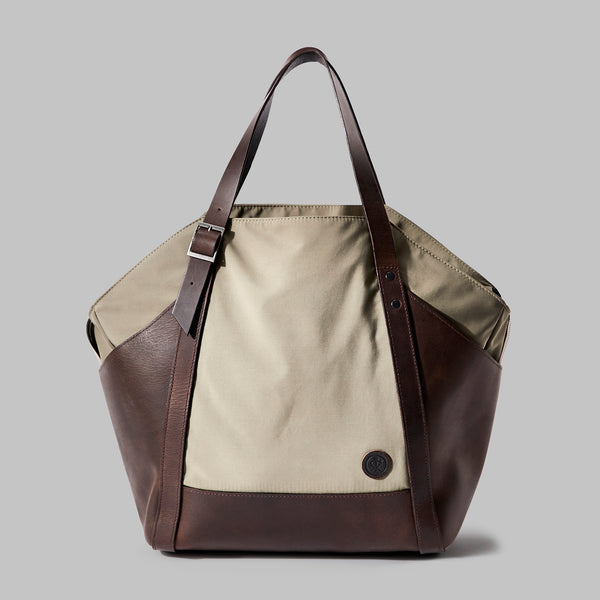 Amerton | beige nylon shoulder bag