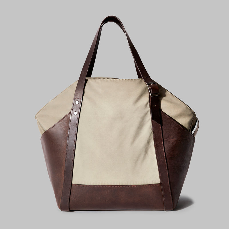 Amerton Beige Nylon Shoulder Bag