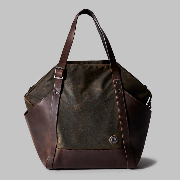 Amerton | waxed cotton shoulder bag