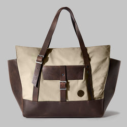 Longton Beige Nylon Large Tote