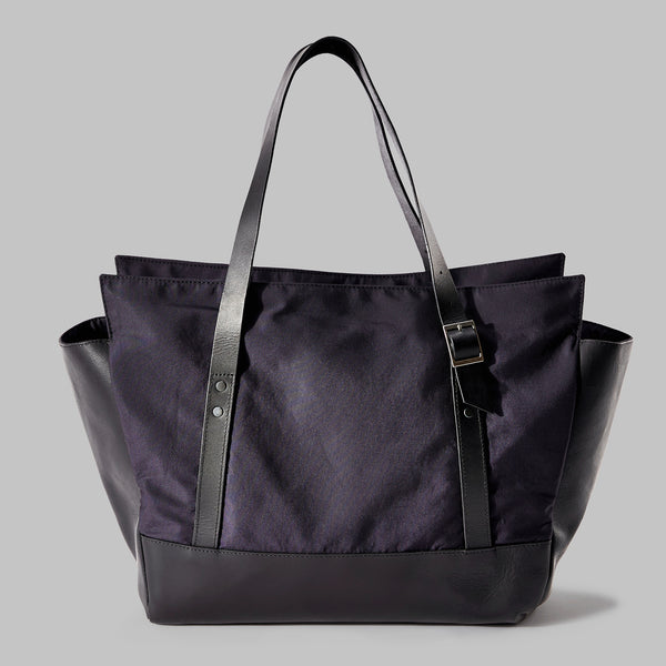 Longton Navy Nylon Large Tote