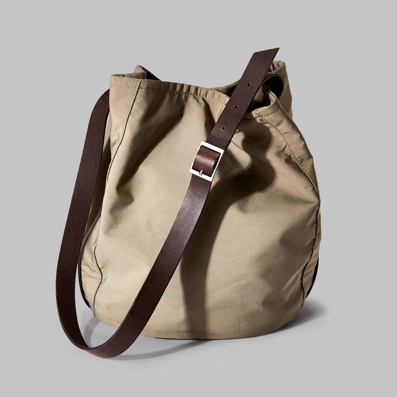 Moseley Beige Nylon Bucket Bag