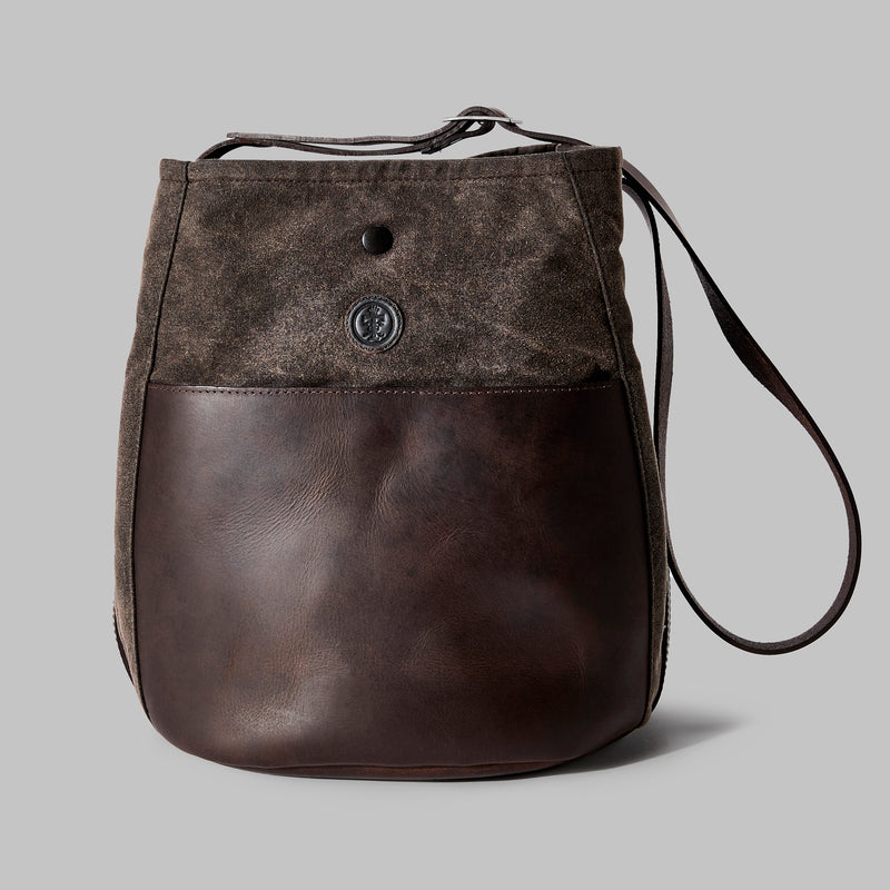 Moseley Brown Waxed Cotton Bucket Bag