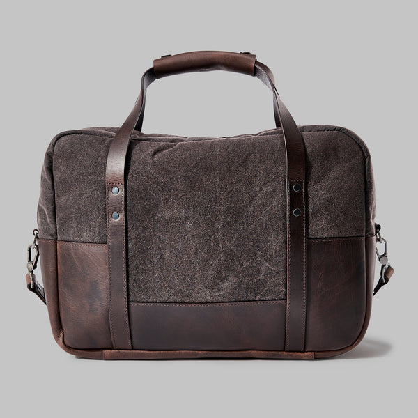 Hanley Brown Waxed Cotton Laptop Bag