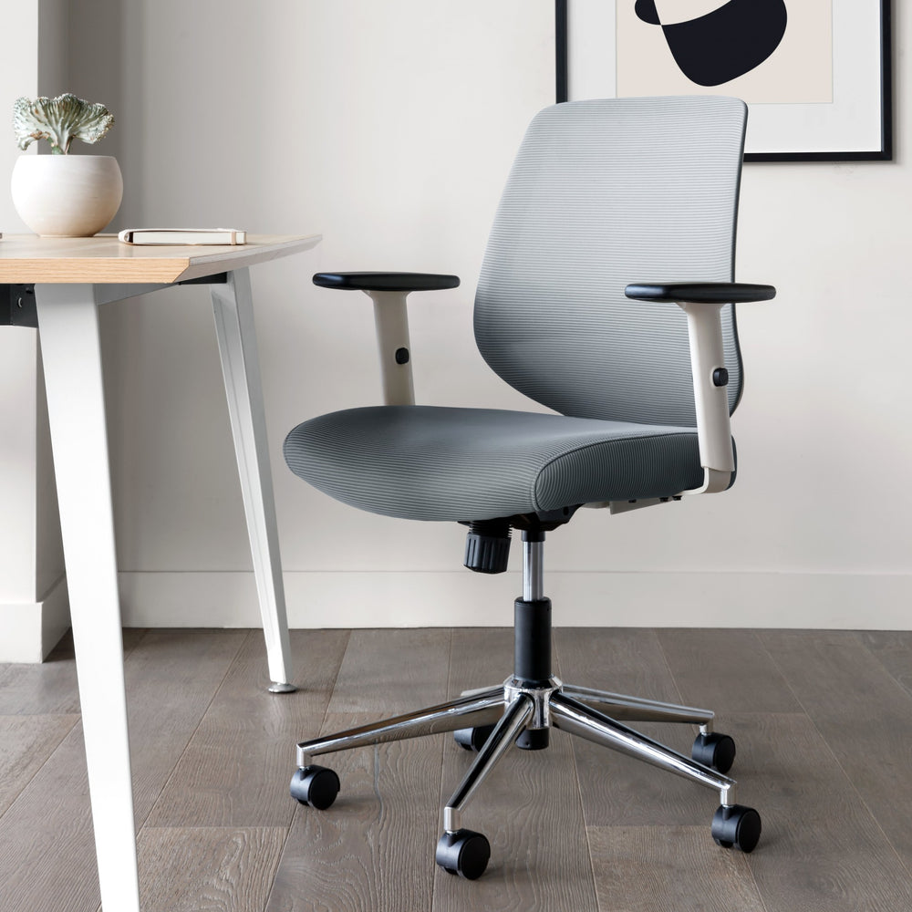 Seat Color:Slate; Frame Color:White