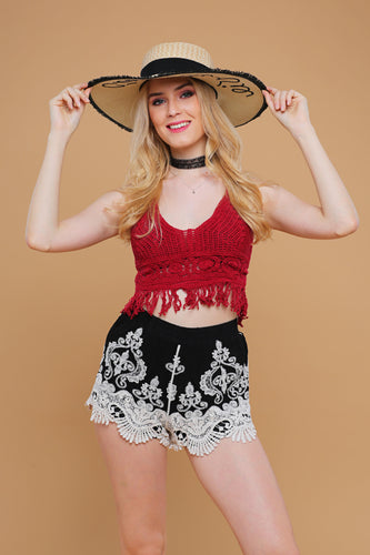 NEW: Crochet top and Shorts