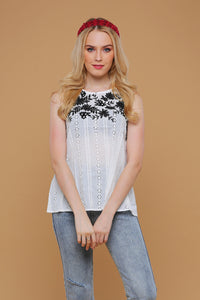 New: Giselle Eyelet top