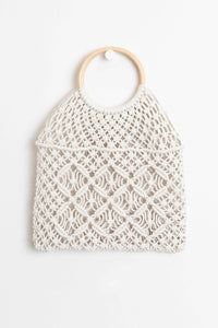 Handmade crochet bags (wood handle)