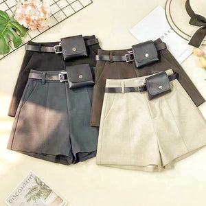 NEW: CRYSTAL SHORTS WITH BELT BAG