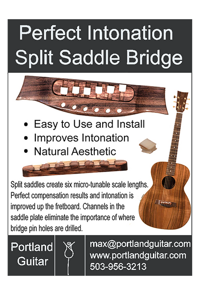 Compensated Guitar Bridge