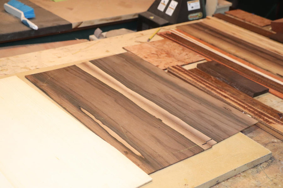 The Beginning of a Pair of Brazilian Rosewood OMs