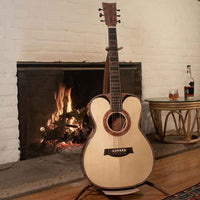 boutique acoustic guitar for sale by the guitar luthier Jay Dickinson of Portland Guitar