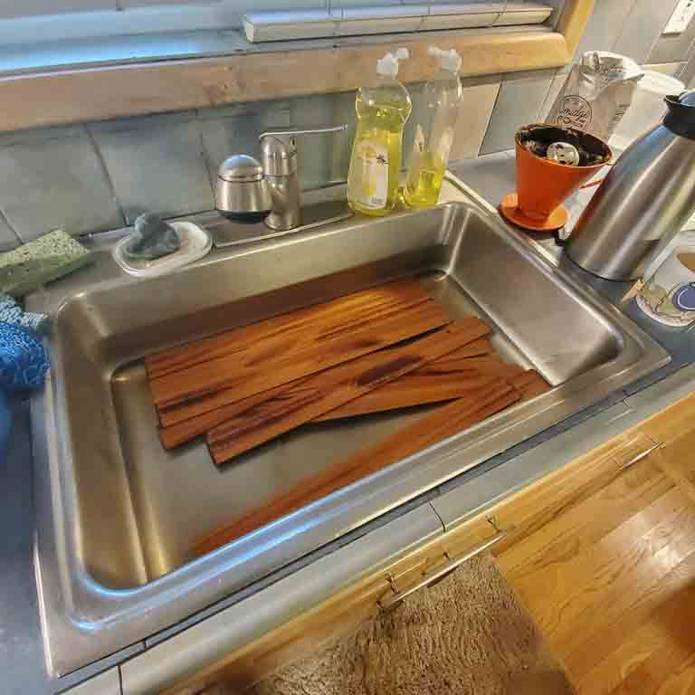 how to soften wood with water