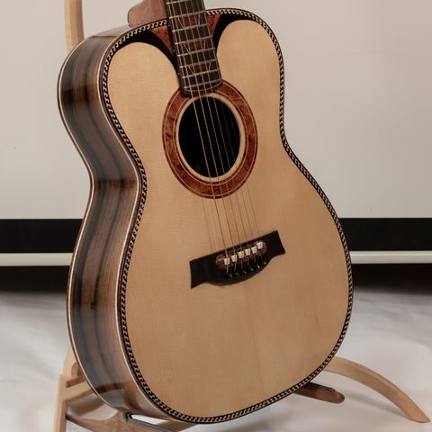 fine acoustic guitar with unique rosette