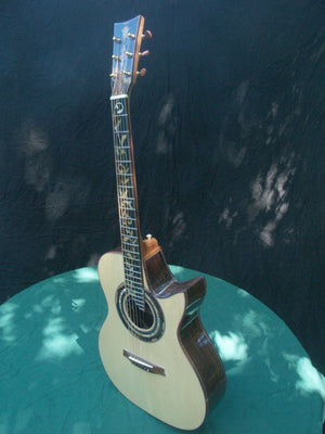 Brazilian Rosewood with Spruce Orchestral Model Cutaway Acoustic Guitar OMC 1.4.20 Gallery