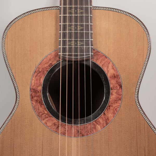 Parlor Gold Inlay Brazilian Rosewood with Western Red Cedar