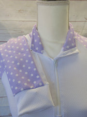 XS SHOW SHIRT WITH LAVENDER ACCENTS
