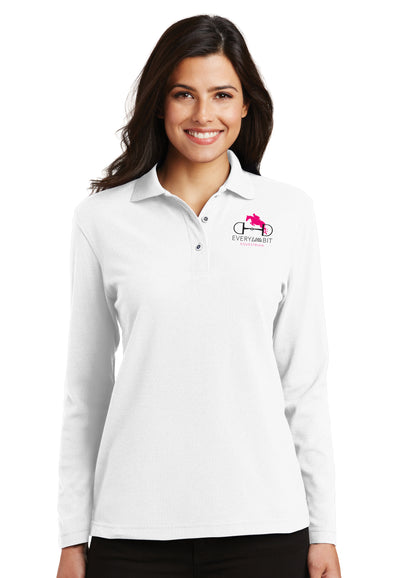 Port Authority® Ladies Silk Touch™ Long Sleeve Polo