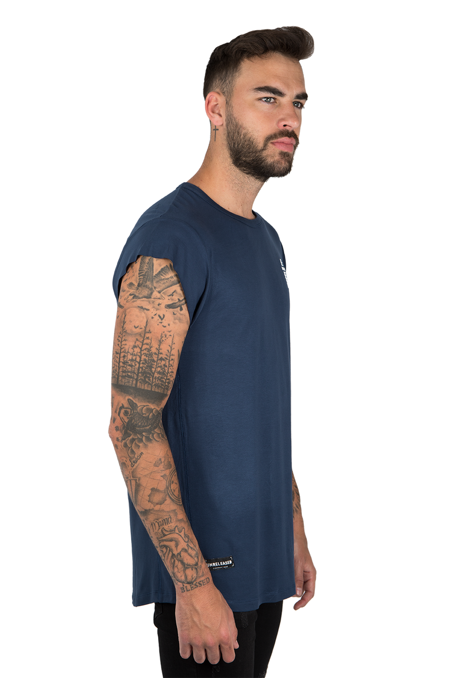 CUTTED SLEEVES T-SHIRT GONÇALO EDITION - NAVY