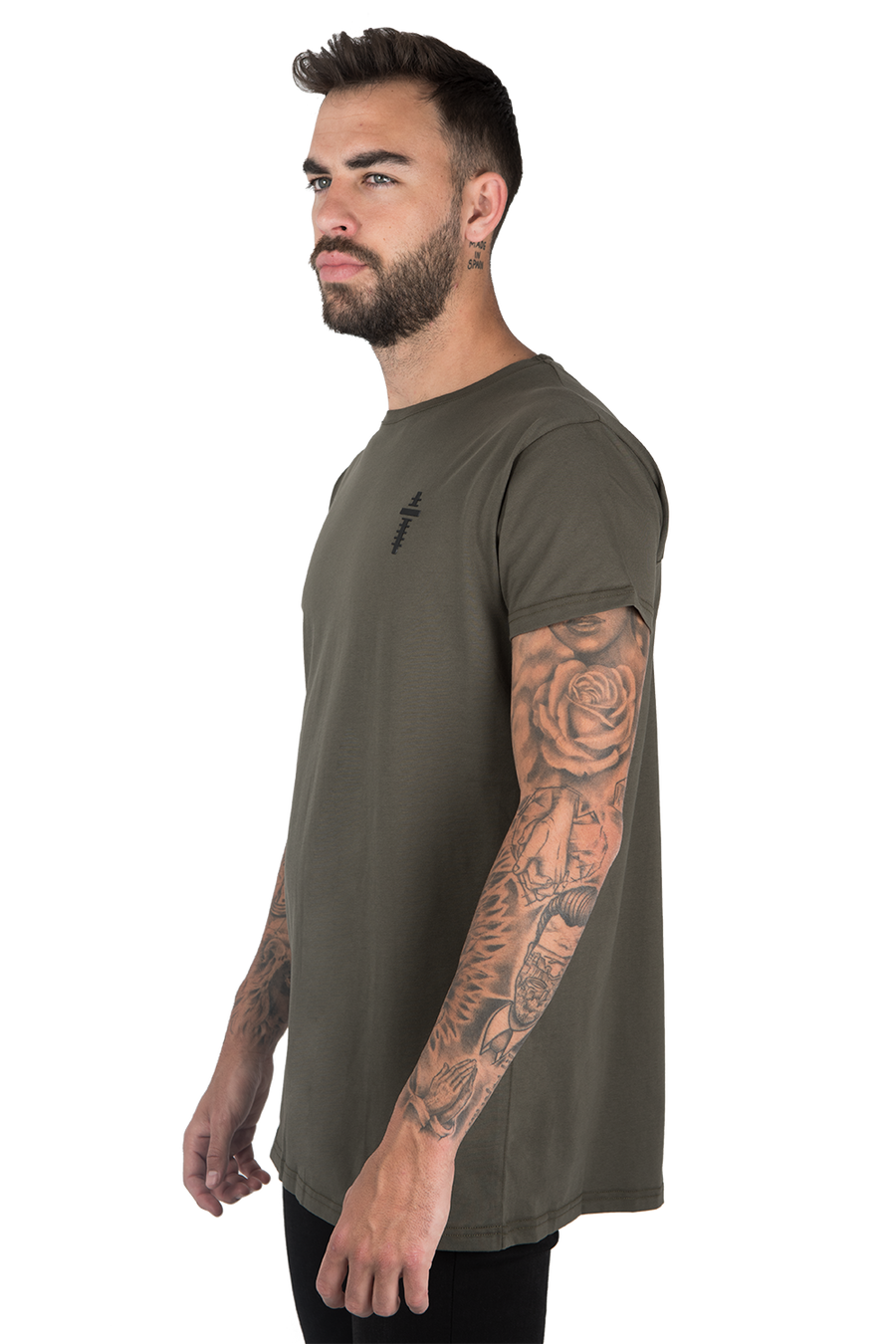 BASIC T-SHIRT WITH PLEAT GREEN