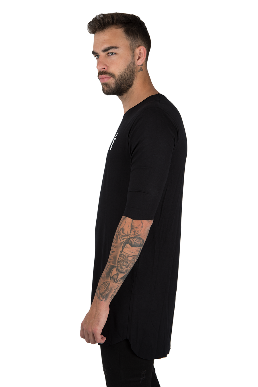 LONG FLOWING T-SHIRT MANU SANCHEZ EDITION - BLACK