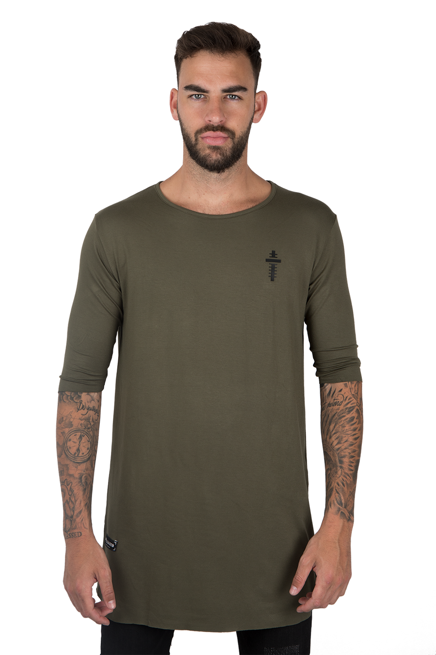 LONG FLOWING T-SHIRT - KHAKI