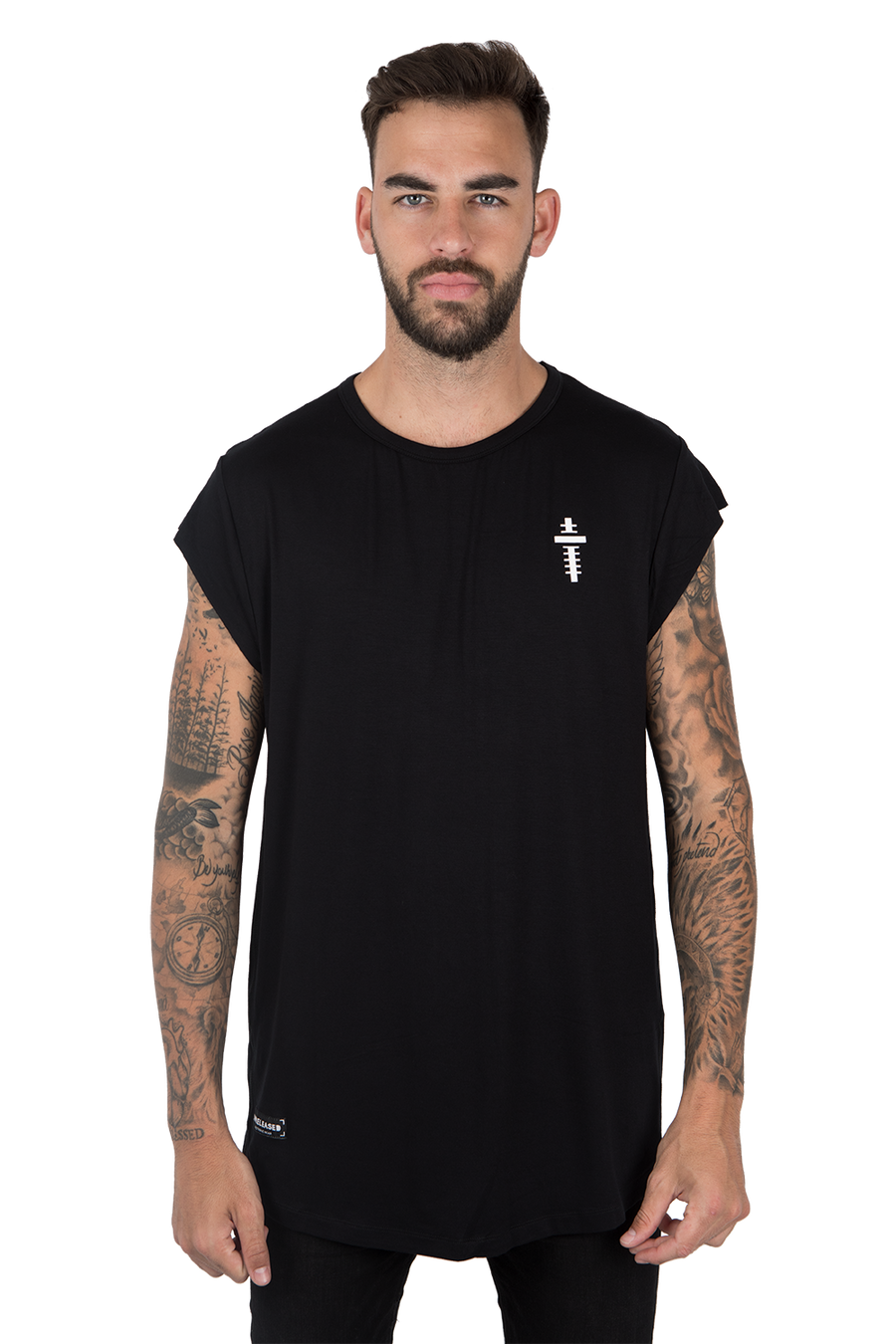CUTTED SLEEVES T-SHIRT RAUL PACHECO EDITION - BLACK