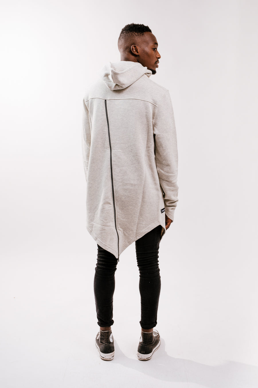 MEN'S ASYMMETRIC HOODED SWEATSHIRT