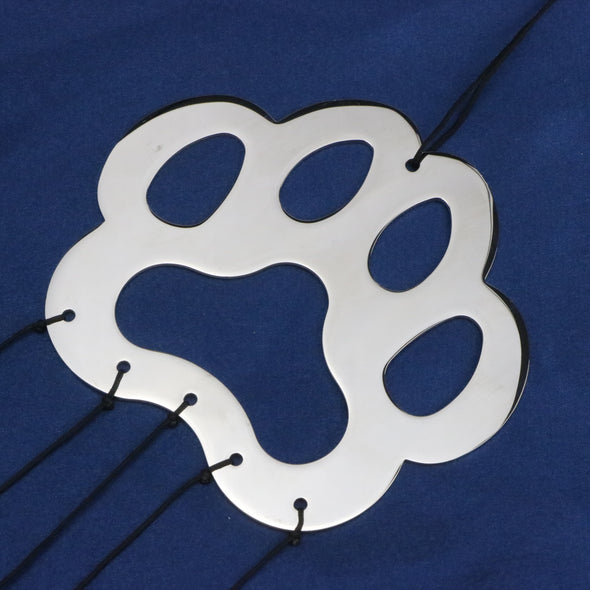 Pet Memorial Wind Chime Gift After Loss Wind Chime In Memory of Paw Print Pet Sympathy Gift