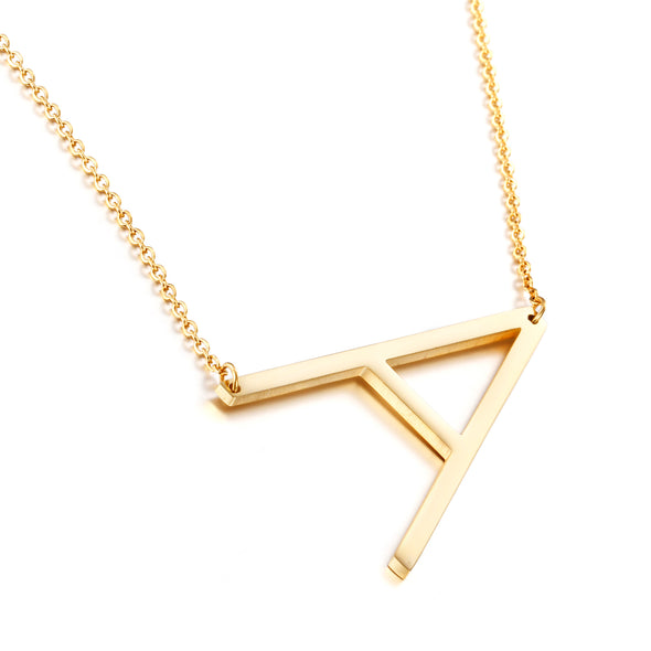 A-Z Large Letter Necklace