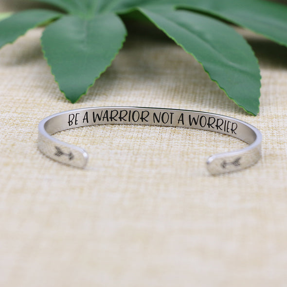 Be a Warrior Not a Worrier Inspiratonal Bangle